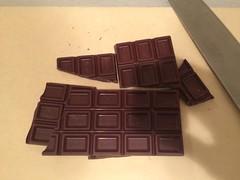 チョコレートを置きます