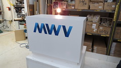 White Laminate Custom Display for MeadWestvaco