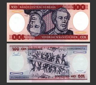Brasil 100 Cruzeiros - Circa 1985