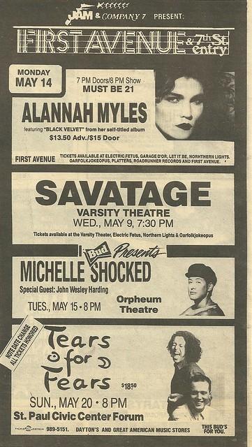 05/09/90 Savatage @ Varsity Theater, Minneapolis, MN