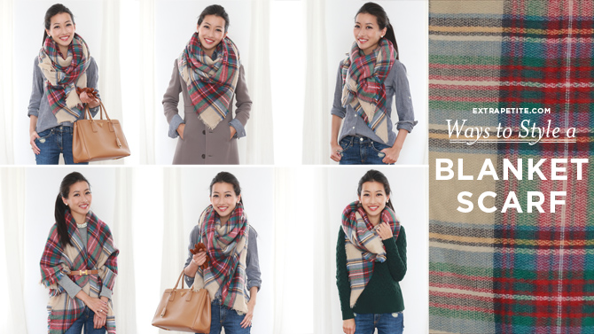 how to style tie a blanket scarf 670