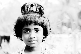 Girl portrait, Kerala, India
