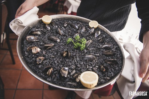 and black squid ink paella.