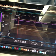 Editing next week's show on the train ride home! Podcaster lifestyle.
