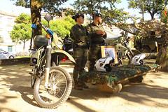Motos todoterreno de la Policía Militar