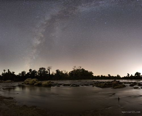 usa night river landscape waterfall texas nightscape nightsky navasota milkyway brazos 2014 brazosriver hidalgofalls