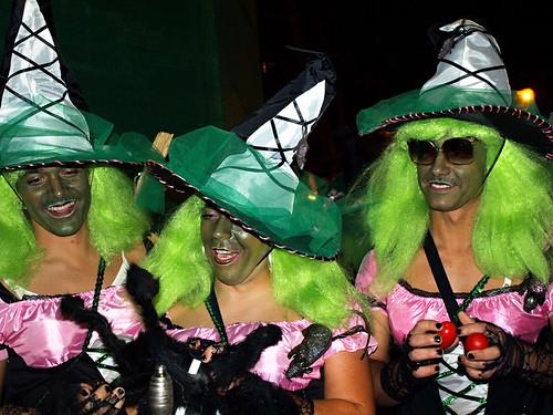 Witches, carnival, Puerto de la Cruz, Tenerife