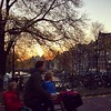 The other red light in #amsterdam #fromwhereirun #sunrise