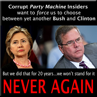 Party Insiders for Bush vs Clinton