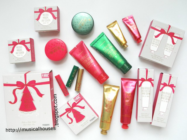 Etude House Pink Wish Tree Christmas Holiday Sets 1