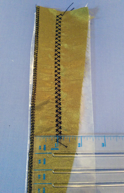Machine Fagoting Tutorial - Measure Stitch Width
