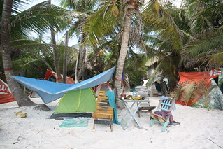 Camping Chavez.  Tulum, Mexico.