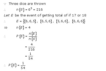 RD-Sharma-class-11 Solutions-Chapter-33-Probability-Ex-33.3-Q-4