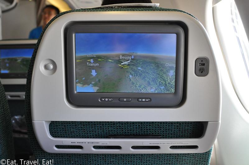 Cathay Pacific CX 391 (PEK- HKG): Premium Economy Television