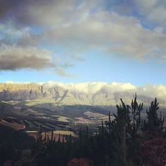 The Cape Winelands where I shot today...