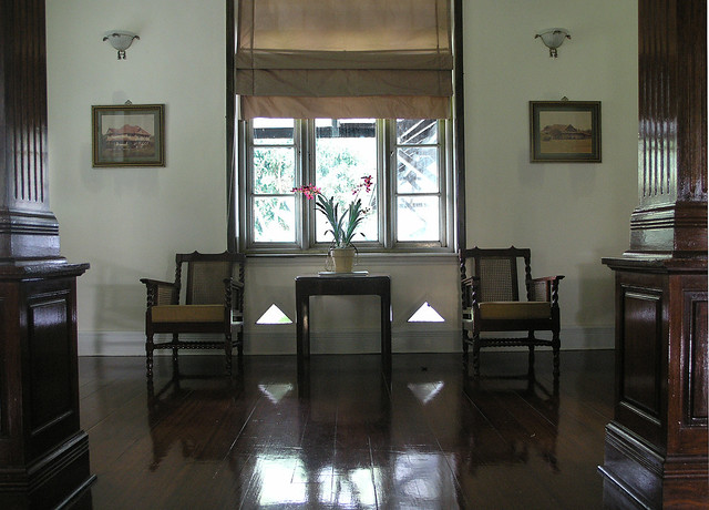 2014 Interior of an old British colonial bungalow, Carey Island , Malaysia