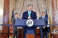U.S. Secretary of State John Kerry hosts a welcome reception to commemorate the announcement of Randy Berry as the first-ever Special Envoy for the Human Rights of LGBT Persons at the U.S. Department of State in Washington, D.C., on February 27, 2015. [State Department photo/ Public Domain]
