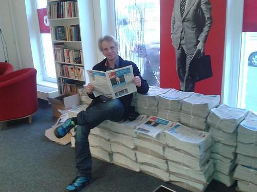 Henning Reh auf der Harburger SPD Wahlkampfzeitung