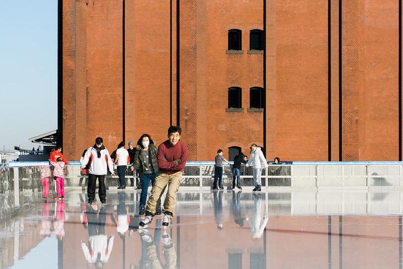 Art Rink Ice Skating in Red Brick Warehouse Yokohama