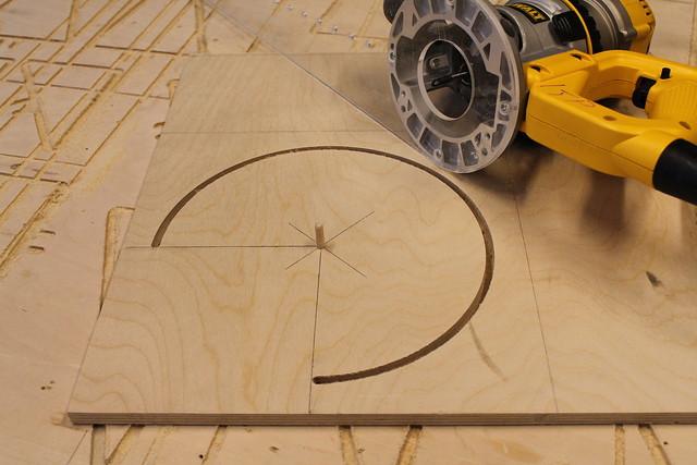 Final cut of circle jig