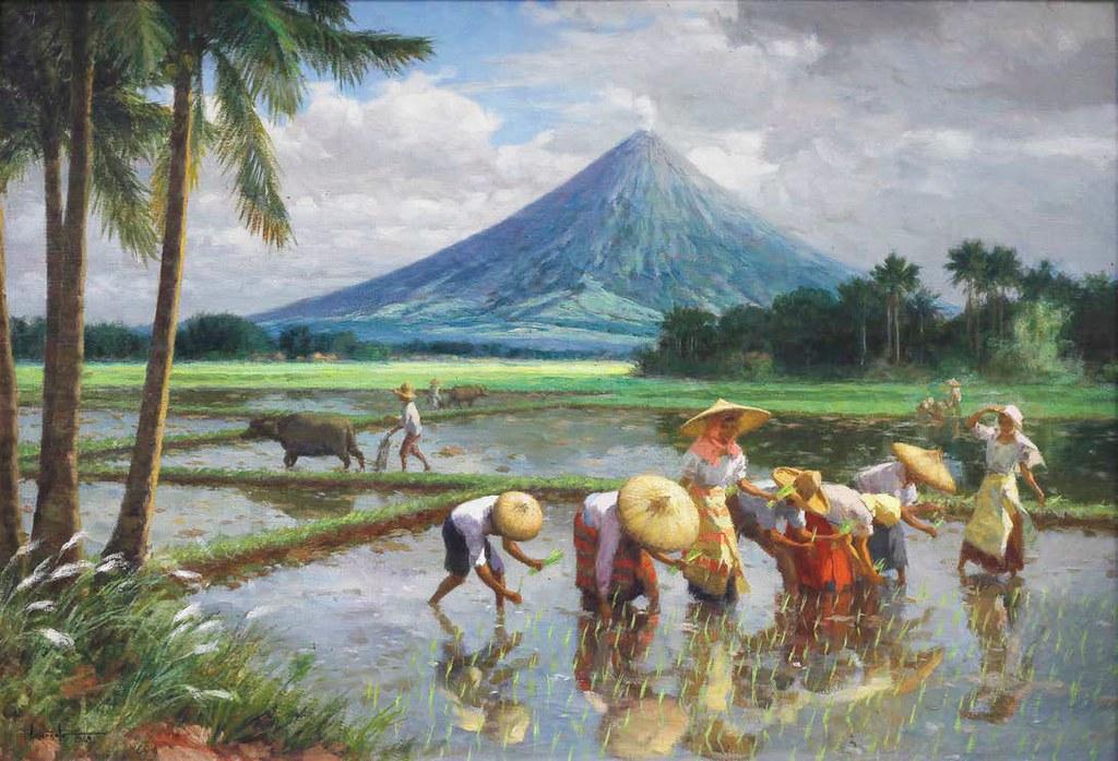 Amorsolo: Planting Rice (Mayon) | Fernando Amorsolo (1892 ...  Amorsolo: Plant...