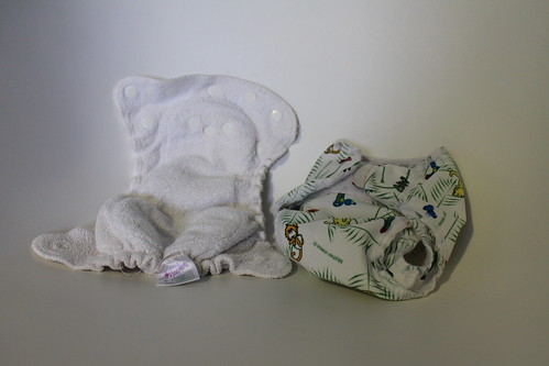 Kissaluvs terry cotton diaper with cover