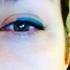 Because I needed an electric blue eyeliner. Obviously.