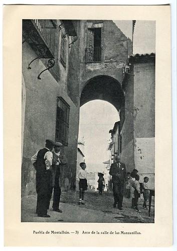 La Puebla de Montalbán : Arco de la calle de las Manzanillas