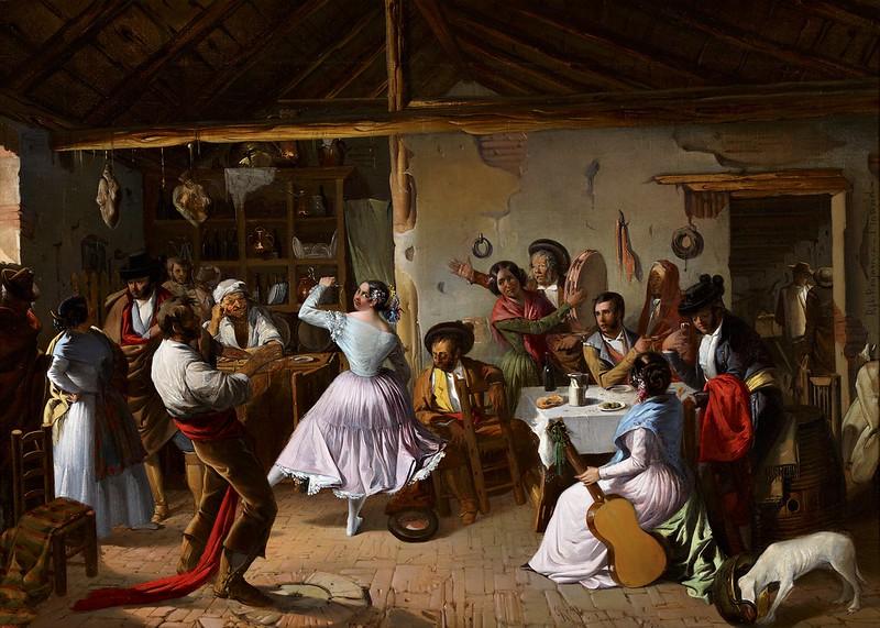 Rafael Benjumea - Baile en una venta (1850)