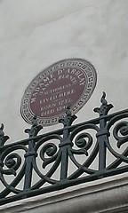 Photo of Frances Burney brown plaque