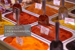 Traditional spices market in Barcelona.