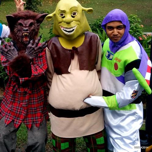 Werewolf, Shrek & Buzz Lightyear