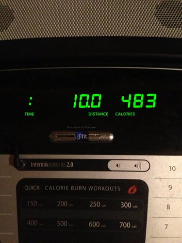 Apparently my treadmill resets at mile 10