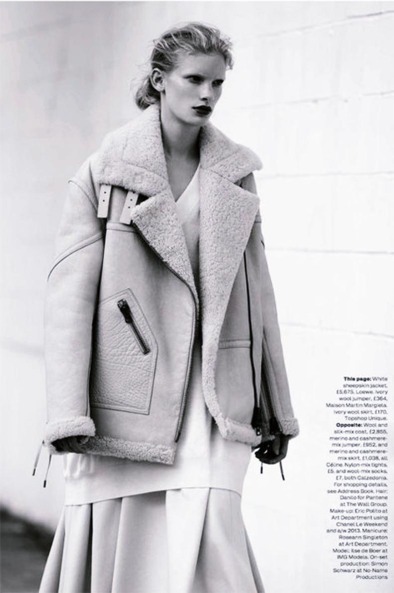 aviator jacket fashion editorial
