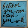 "Believe you can and you will. Have a little faith in ""YOU"". #positivity #encouragement  #youcandoit #optimism #believeinyourself #movingon #movingforward #loveyourself #postit #stickies #remindertoself #gothamchick #pinaynewyorker Post dedicated to the yo"
