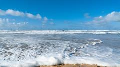 The sea at Fistral Beach, Cornwall.