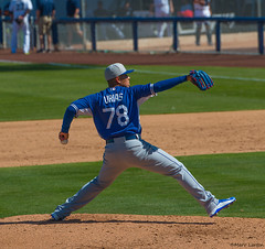 Teenager Julio Urias makes spring debut in Dodgers victory Teenage left-hander Julio Urias pitched 1 2/3 scoreless innings Friday for the Dodgers, as Joc Pederson and Alex Guerrero maintained their spectacular