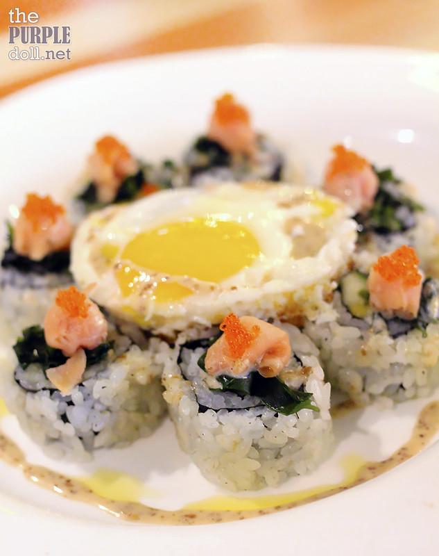 Smoked Salmon Truffle Sushi (P449 95)