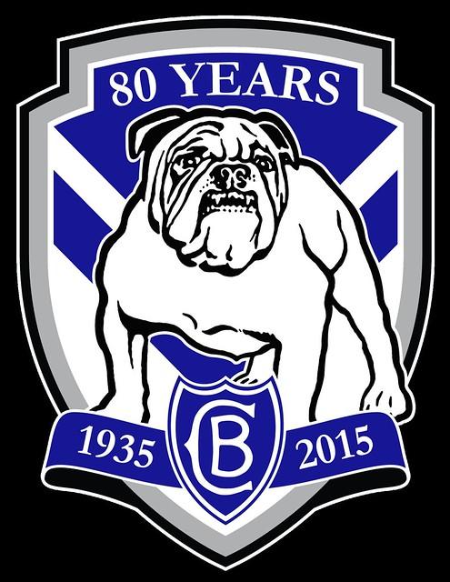 Canterbury-Bankstown Bulldogs 80 Years Custom Royal Blue Logo by Sunnyboiiii
