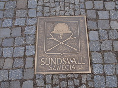 commemorative plaque, manhole cover, road surface,