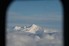 Mont Blanc in France, as seen from U.S. Secretary of State John Kerry's aircraft on March 4, 2015, as he flew from Geneva, Switzerland, to Riyadh, Saudi Arabia, following negotiations with Iranian officials about the future of their nuclear program and en route to a meeting with King Salman of Saudi Arabia and members of the Gulf Cooperation Council. [State Department photo/ Public Domain]