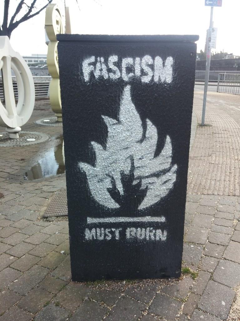 Fascism street art in Cardiff