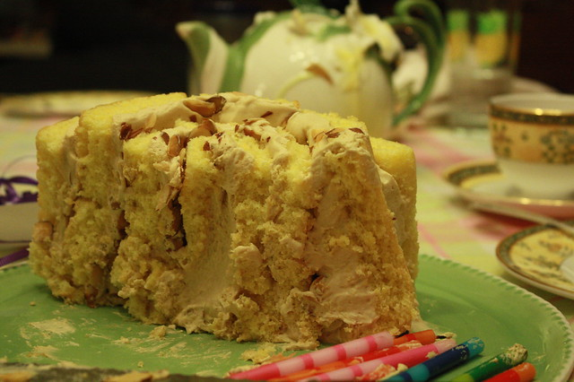 Butterscotch Cream Roll-Up Cake