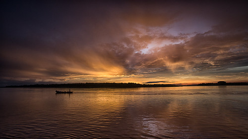 cambodia clouds landscape meekingdelta meekongriver river sunrise kampongcham kh