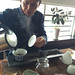 Mr Wang prepares the tea