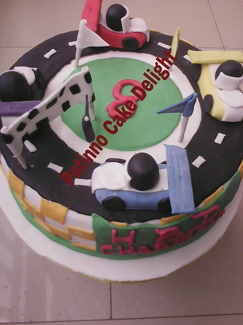 Car Race Birthday Cake by Patience Ozoemena Peace of Patinno Cakes And Accessories
