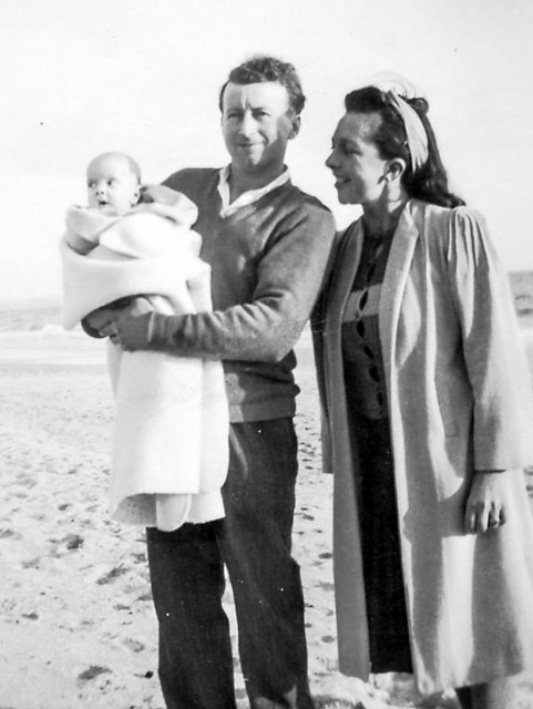 1946, July 28, Chelsea, Victoria. Eric and Roma Proposch with newborn son Daryl