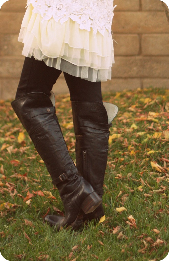 Holiday winter style featuring Paige Denim, Freebird by Steven Boots, and Zappos