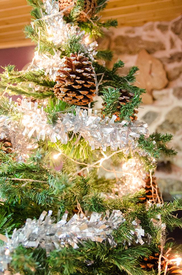 Decoración rural para navidad