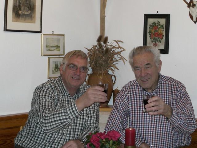 Peter Eberl gratuliert Otto Mauerer zum 80. Geburtstag